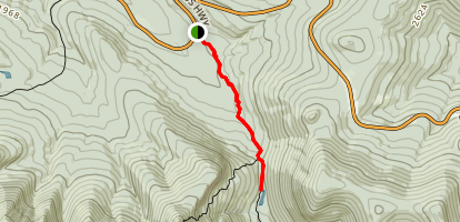 Upper Greeley Ponds via Kancamagus Highway Map