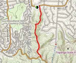 Serrania Ridge Trail Map