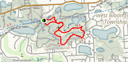 West Bloomfield Woods Nature Preserve Trail Map