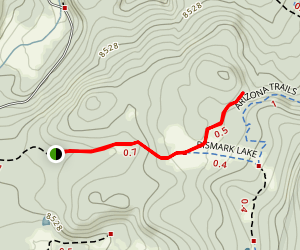 Little Spring to Bismarck Lake Trail Map