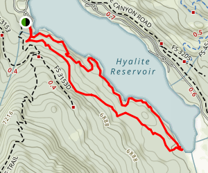 Hyalite Reservoir Loop Trail Map