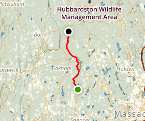 Midstate Trail:  Browning Pond to Barre Falls Map