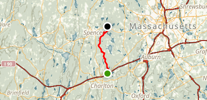 Midstate Trail: Massachusetts Turnpike to Tafts Corner Map