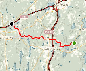 Midstate Trail: Sutton to Massachusetts Turnpike Map
