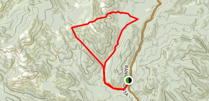 Volcano Ridge and Gorge Creek Loop Map
