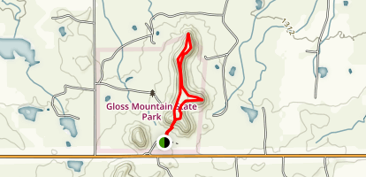 Cathedral Mountain Mesa Trail Map