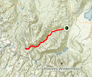 Buckeye Creek Trail to Kirkland Pass Map