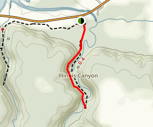Illinois Canyon Trail Map