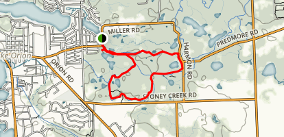 Chamberlain Lake Trail  Map