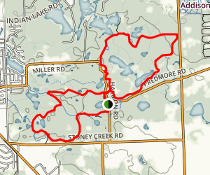 Bald Mountain Blue, White and Orange Loop Trails  Map