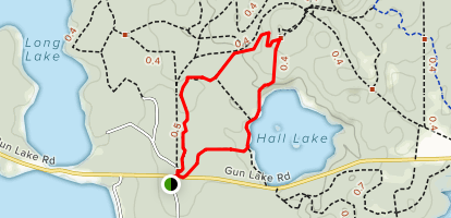Graves Hill Overlook and Hall Lake Loop Map