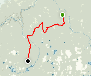 Jerry Lake via Ice Age Trail Map