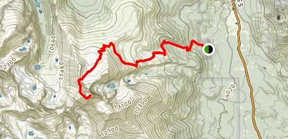 The Keyhole and Longs Peak Trail Map