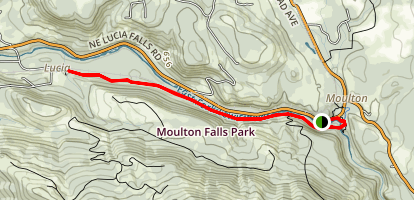 Moulton Falls - East Fork of the Lewis River Trail Map
