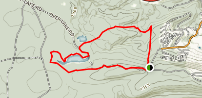 Wolf Swamp and Deep Lake Trails Loop Map