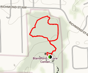 Blandford Nature Center Trail Map