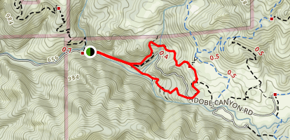 Canyon Trail to Pony Gate Trail Loop Map