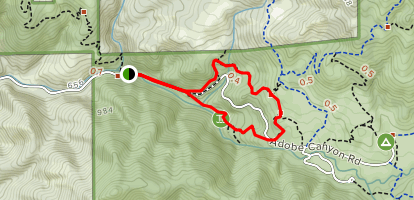 Canyon Trail to Pony Gate Trail Loop [CLOSED] Map