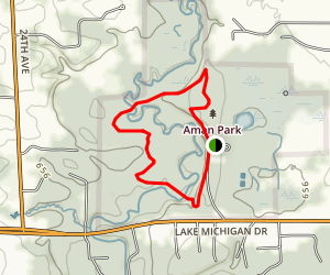 Aman Park Loop Map