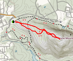 Stone Mountain Walk-Up Trail Map