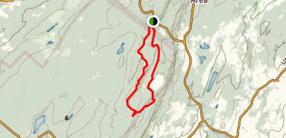 Iris Trail to Lake Rutherford via Appalachian Trail Map