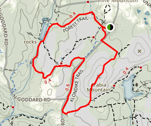 Arabia Mountain, Klondike, and Forest Trails Loop Map