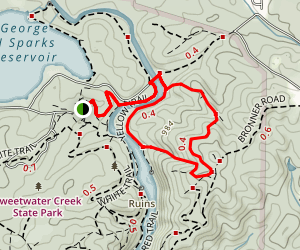 Sweetwater Creek Yellow Trail Map