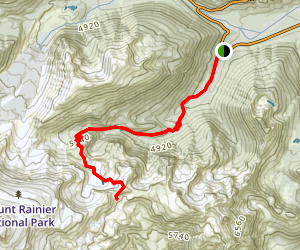 Wonderland Trail to Panhandle Gap Map