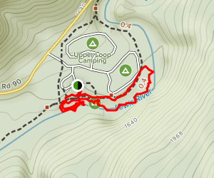 Lower Falls Recreation Area Campground Map