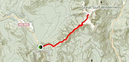 Mount Washington via Crawford Path Trail Map