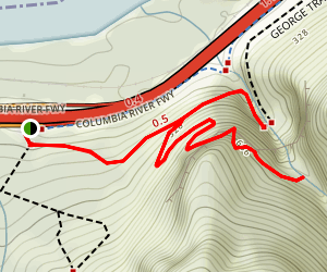 Elowah and Upper McCord Creek Falls Trail (CLOSED) Map