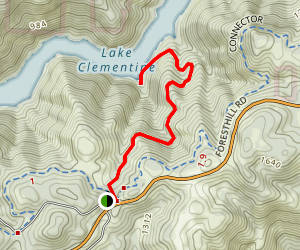 North Fork of the American River Lake Clementine Trail Map