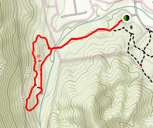 Wiashal Trail Loop to Cole Canyon Map