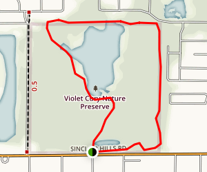 Violet Curry Nature Preserve Loop Map