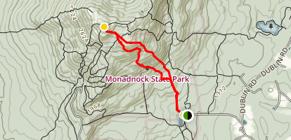 White Dot Trail to Mount Monadock Map
