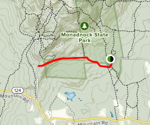 Parker Trail from Poole Reservoir Map