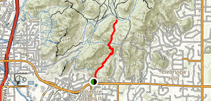 Quartz Ridge Trail (#8A) Map