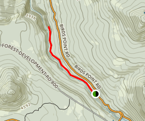 Lemolo Falls Trail Map