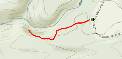 Warm Springs Falls Trail Map