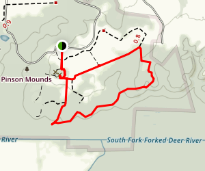 Pinson Mounds Nature Trail Map