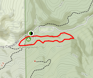 Rujada Campground: Swordfern Loop Trail Map