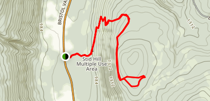 Stid Hill Multiple Use Area Trails Map