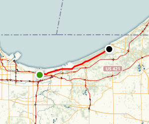 Indiana's Lake Michigan Shoreline Scenic Drive Map