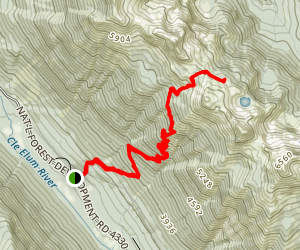 Paddy-Go-Easy Pass Trail Map