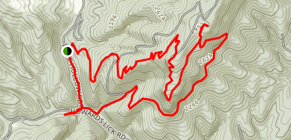 White Oak to Big Ridge Loop Map