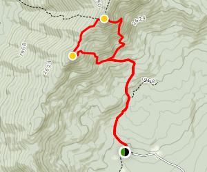 Mount Hunger and White Rock via Middlesex Trail Map