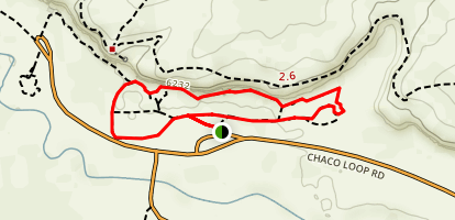 Chaco Culture National Historical Park Trails Map