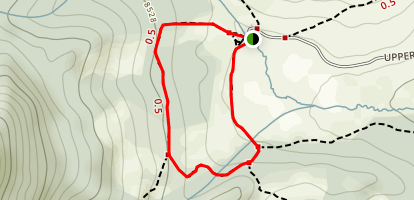 Upper Beaver Meadows Loop Trail Map