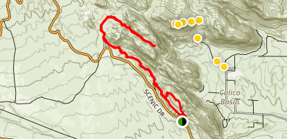 Calico Hills Trail Map