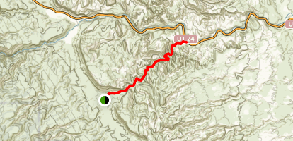 Grand Wash Trail via Capitol Reef Scenic Dr. Map